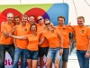 Meppel 14 juni 2019: Gemeente Meppel team 2 wint bungeeroeien