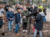 Meppel 9 jan. 2020: Leerlingen 2 bso Meppel plantten eigen Tiny Forest