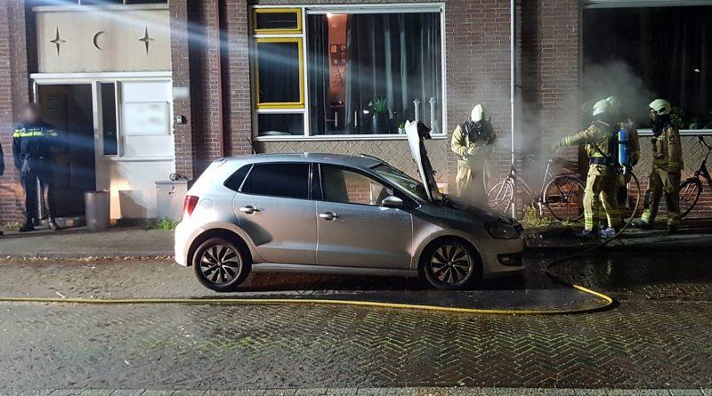 Autobrand aan de Thorbeckelaan Meppel